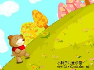 英语儿歌The bear went over the mountain